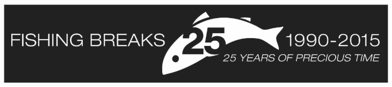 Fishing Breaks 25th logo banner