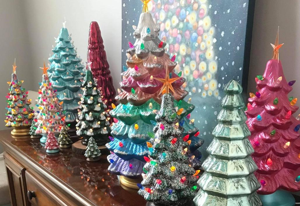 Diy Vintage Ceramic Christmas Trees