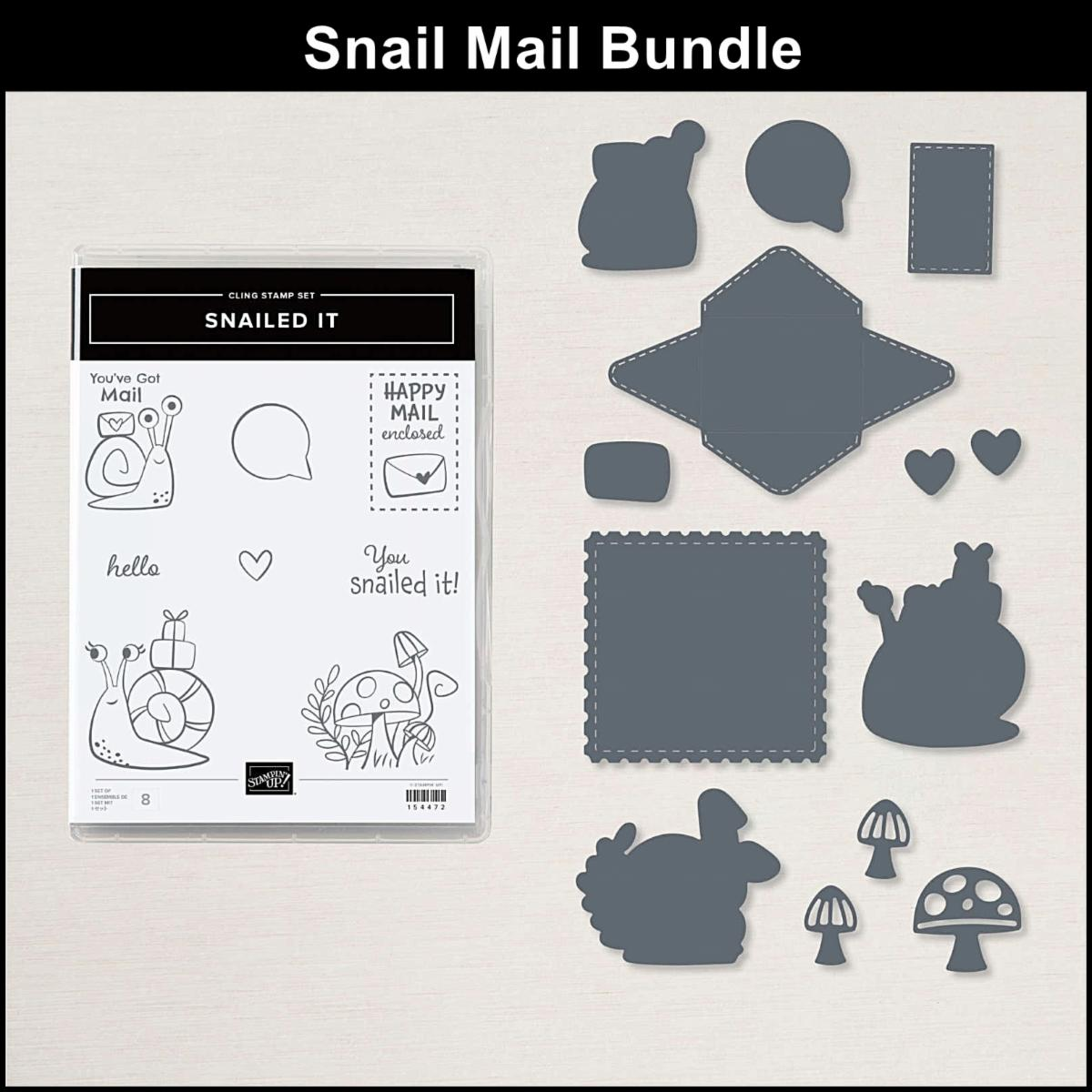 Delight someone's mailbox with happy mail in this adorable projects class To Go to make 4 cards & 2 treat holders featuring the Snail Mail bundle.