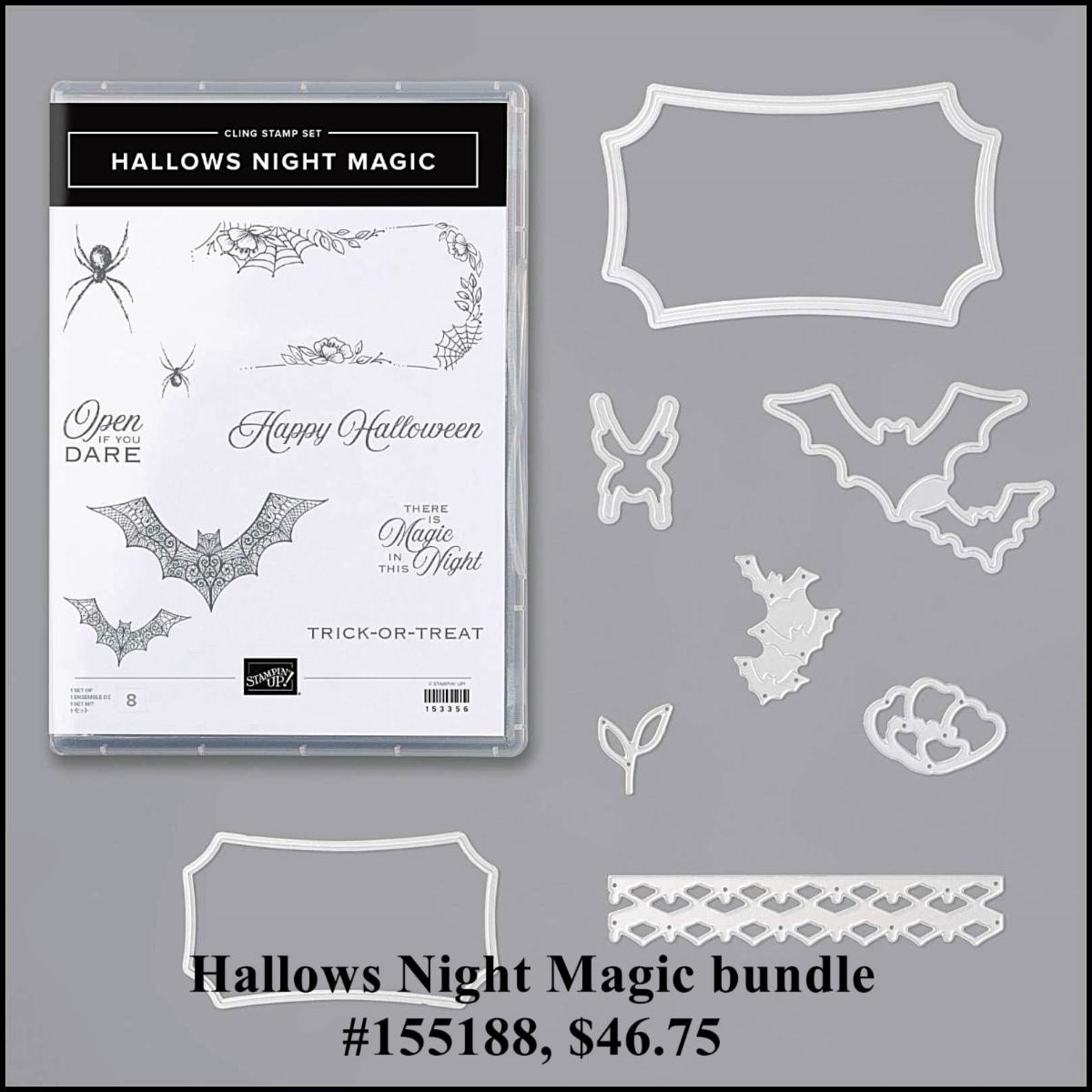 Spooky fun crafting with the Magic In This Night suite.