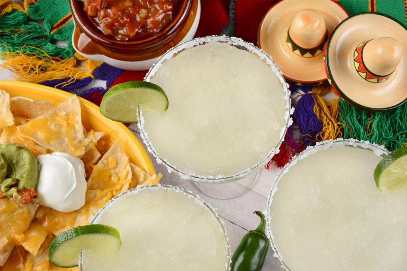 Margaritas and nachos