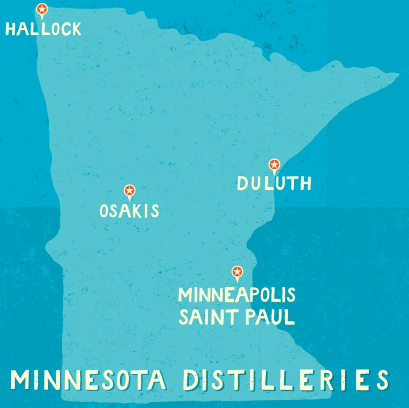 Map of MN Distilleries