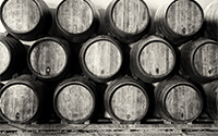 Bourbon Barrels Stacked