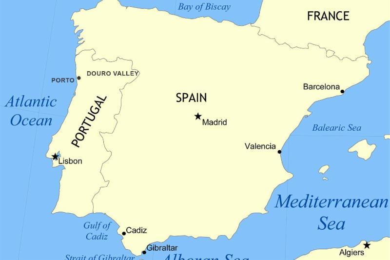 Alboran Sea map.