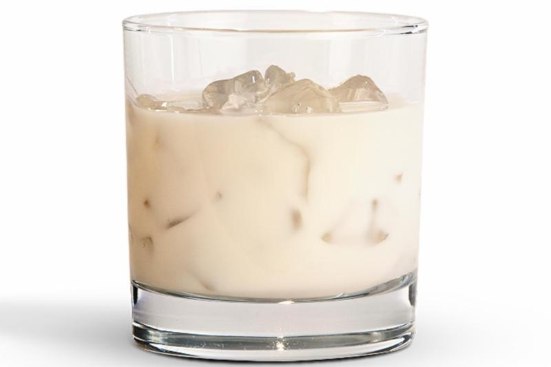 A glass of Pumpkin Spice by RumChata.