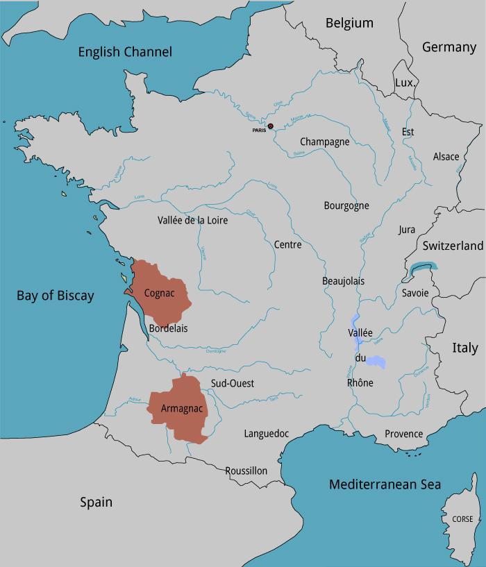 Cognac Region Of France Map.Brandy Mgm Wine Spirits