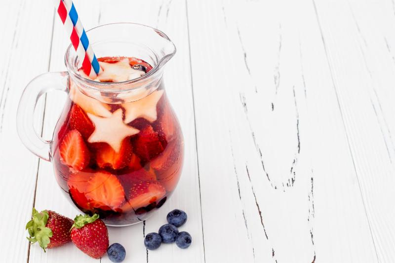Red White & Blue Sangria