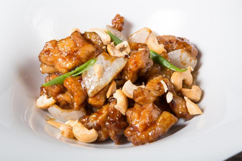 Thai pork with peanut sauce