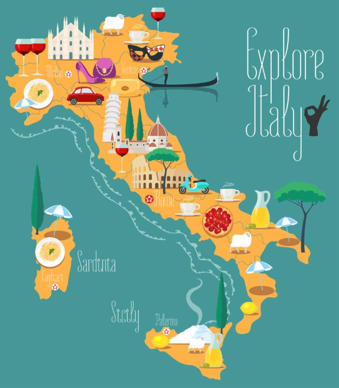 Map of Italian Food