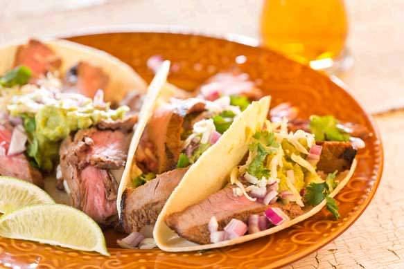 Sam Adams Grilled Skirt Steak Tacos