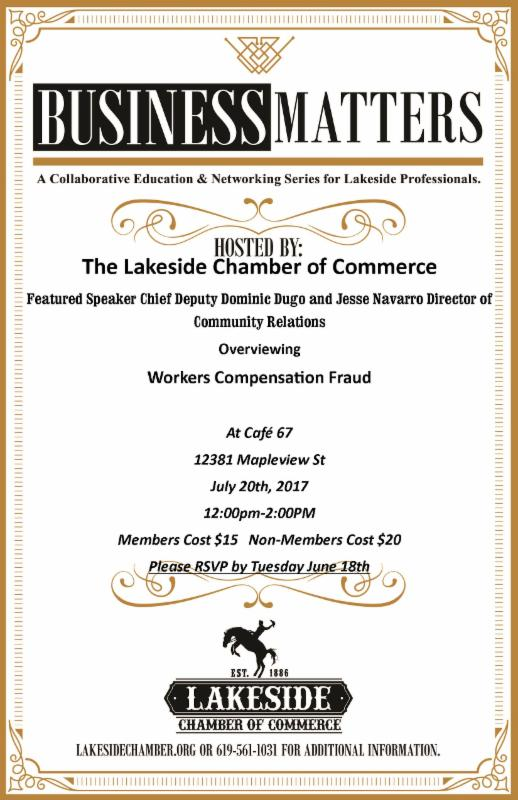Workers Compensation Fraud Business Matters Lunch Learn Workshop