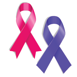 pink and purle ribbons