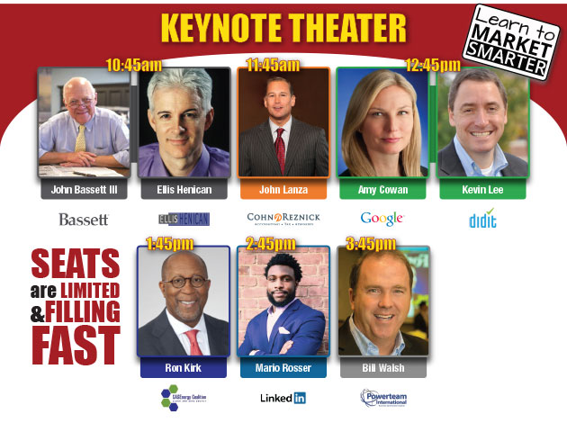 World Renowned Speakers in the Keynote Theater. Register Now