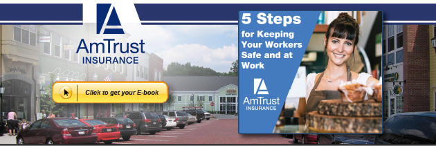 """Download your free e-book and learn the """"5 Steps for keeping your Workers Safe and at Work"""""""
