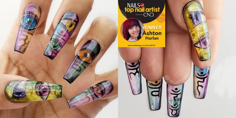 LeChat Nails Perception Nail Art by Ashton Harlan for Nails Magazing NTNA 2019