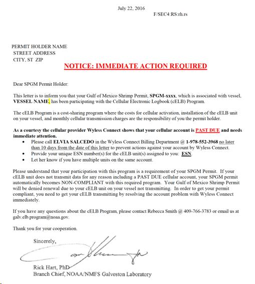 URGENT NOTICE TO FEDERAL GULF OF MEXICO SHRIMP PERMIT HOLDERS