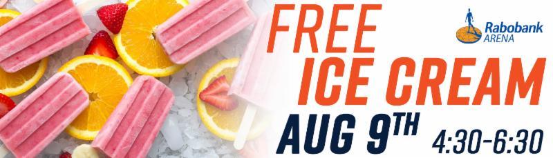 Free Ice Cream Aug 9 4 30 6 30 P M Bakersfieldcondors Com