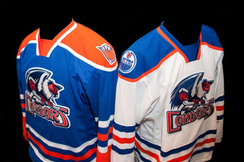Bakersfield Condors' Dark-Colored / Light-Colored Jerseys