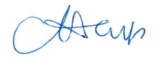 Dr. Champ's signature