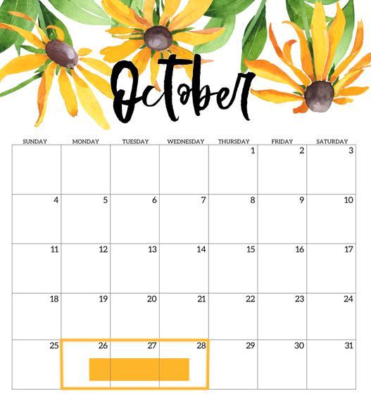 Calendar by Paper Trail Design