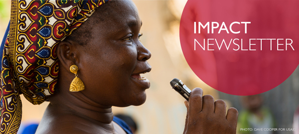 Impact Newsletter. Photo: Dave Cooper for USAID