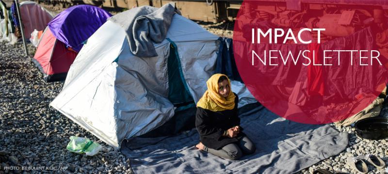 Impact Newsletter. Photo: Bulent Kilic / AFP