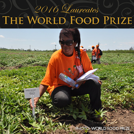 And the #FoodPrize16 goes to... Photo by The World Food Prize