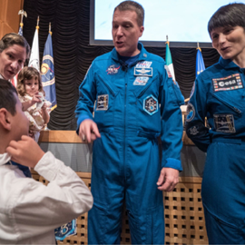 NASA astronauts share why space and development go hand-in-hand. Credit: Robb Hohmann, USAID