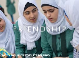 Friendship.   Photo: Thomas Cristofoletti for USAID