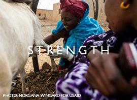Strength.   Photo: Morgana Wingard for USAID