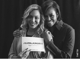 Share a selfie, show your support for #62MillionGirls . Credit: 