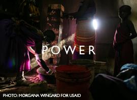 Power.    Photo: Morgana Wingard for USAID