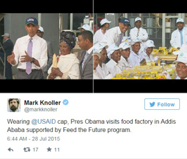 Tweet: Wearing 