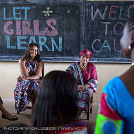 First Family takes #LetGirlsLearn global.  Official White House Photo by Amanda Lucidon