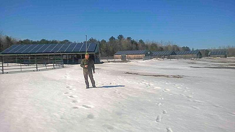 Solar array at MOFGA in Unity, Maine