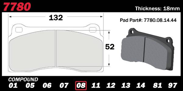 PFC Brakes 7780 Nissan GTR Brake Pad