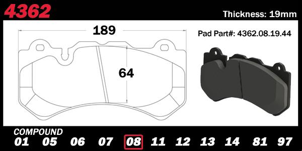 PFC Brakes 4362 Nissan GTR Brake Pad