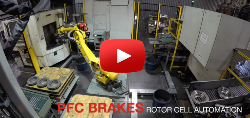 PFC Brakes all new rotor cell automation robot