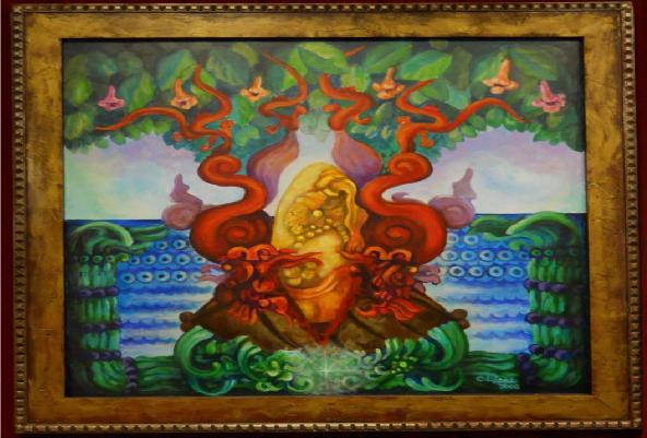 Carlos Lopez painting
