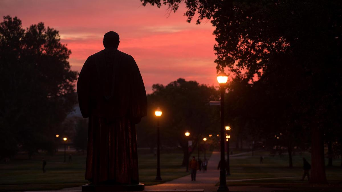 Sunset on the Oval