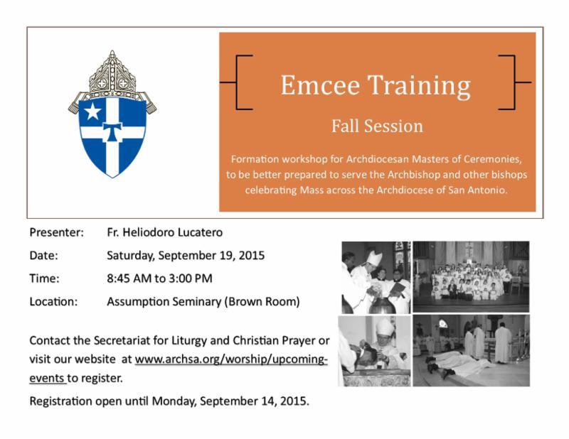 Bishops Training Event Autos Post