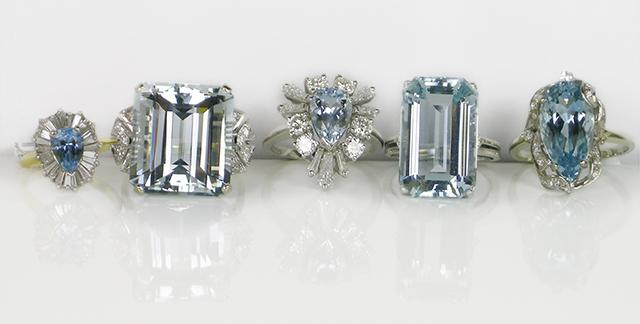 Aquamarine Rings