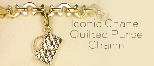 Iconic Chanel Quilted Purse Charm