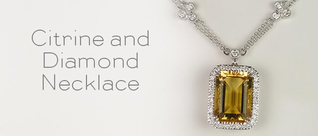Citrine Necklace Sale