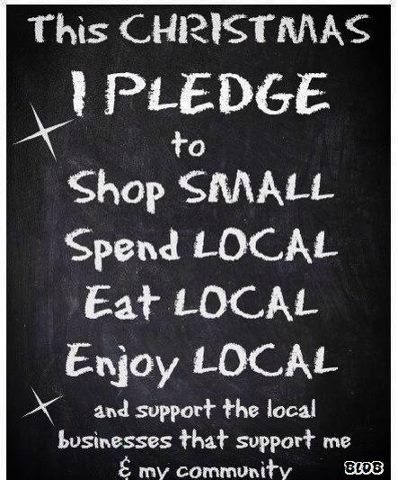 Shop Local Christmas Pledge