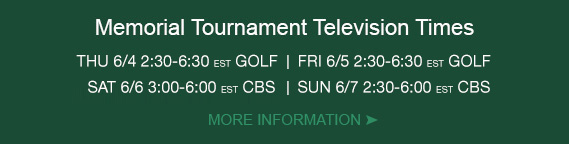 memorial tournament tv schedule