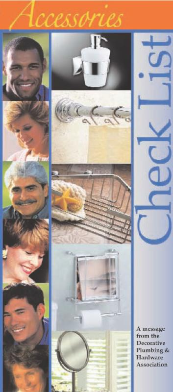 Cover of DPHA Accessories Checklist brochure