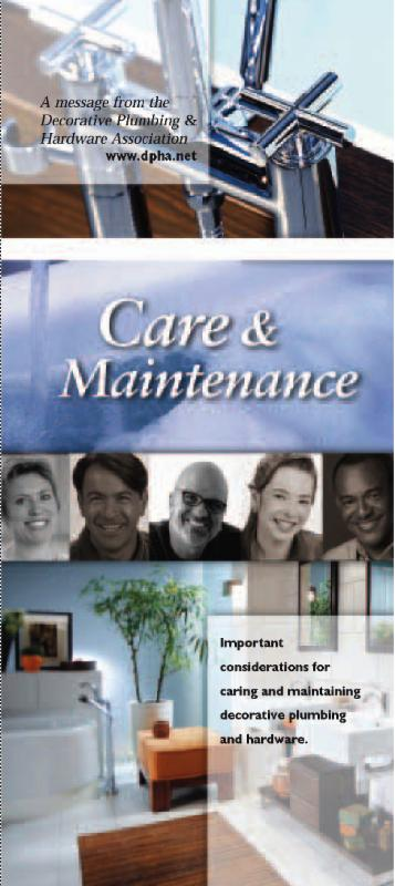 Cover of DPHA Care and Maintenance brochure