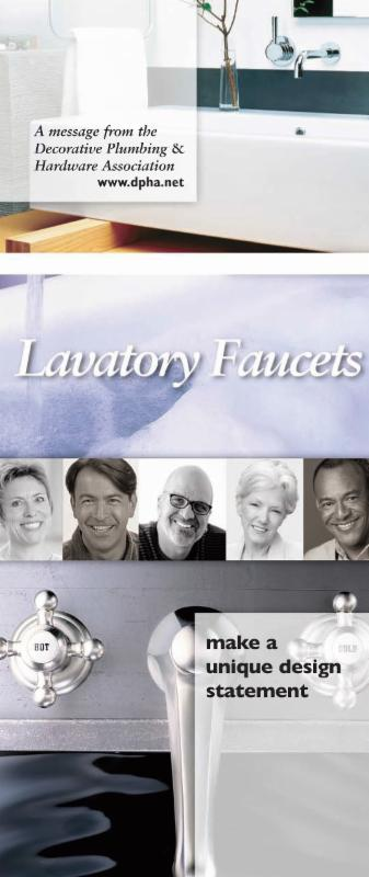 Cover of DPHA Faucet brochure