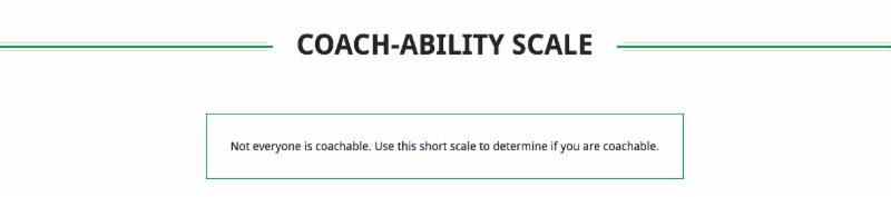 Coach-ablility Scale